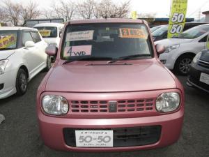 スズキ アルトラパン X H22年 8万K台 4WD ABS ピンク