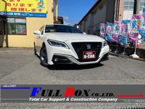 トヨタ クラウンハイブリッド RSアドバンス メーカーOPナビゲーション/本革シート/ドライブレコーダー/ETC/トヨタセーフティセンス