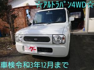 スズキ アルトラパン X 車検令和3年12月 4WD スタッドレスタイヤ