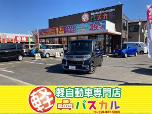 ダイハツ タント カスタムX トップエディションSAIII 4WD 社外ナビ Bluetooth バックカメラ アイドリングストップ プッシュスタート ETC ドライブレコーダー 助手席側電動スライドドア 運転席側シートヒーター