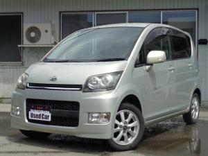 ダイハツ ムーヴ カスタム X 4WD スマートキー CD HID ABS 社外アルミ Tチェ-ン