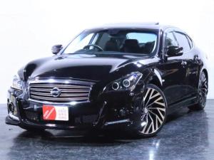 日産 フーガ 250GT タイプP サンルーフ 黒革シート 新品フルエアロ 新品21インチホイール ヘッドライト加工