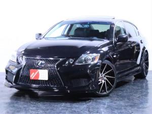 レクサス GS GS350 サンルーフ/黒本革シート/新品フルエアロ/新品20インチホイール/ヘッドライト加工