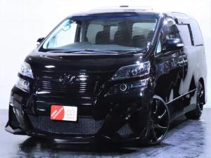トヨタ ヴェルファイア 2.4Z ツインサンルーフ/社外エアロ/新品20インチホイール/3連ヘッドライト加工