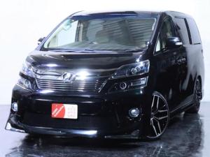 トヨタ ヴェルファイア 2.4X ワンオーナー/後期仕様/新品フルエアロ/新品20インチホイール/3連ヘッドライト加工