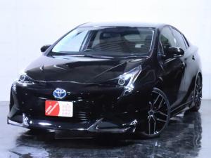 トヨタ プリウス S E-Four 4WD 新品フルエアロ/新品19インチホイール/イカリングライト加工