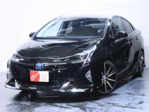 トヨタ プリウス A E-Four 4WD 先進安全装備多数/新品フルエアロ/新品19インチホイール/ヘッドライト加工/寒冷地仕様