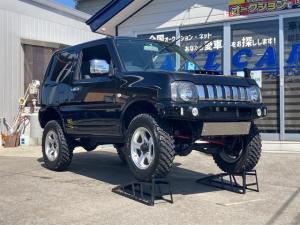 スズキ ジムニー XG スイッチ式切替4WD 新品ヨコハマジオランダーMT 社外AW 3インチリフトアップサス ロングショック メッキウインカーミラー LED