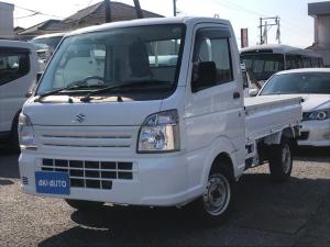 スズキ キャリイトラック KCエアコン・パワステ 4WD 5速MT ETC 三方開 運転席エアバッグ CD USB