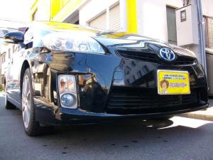 トヨタ プリウス S Tベルチェーン式 純正LEDライト ワンセグ内蔵SDナビ バックカメラ Bluetooth搭載 ETC スマートキー 社外17インチアルミ付き リビルトHVバッテリー交換済み GOO鑑定車