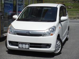 ダイハツ ミラカスタム X スマートキー CDオーディオ 車体色パールホワイト