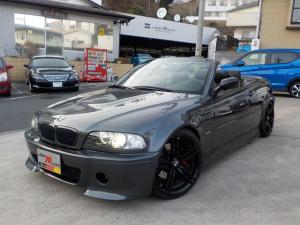 BMW 3シリーズ 330Ciカブリオーレ ワイドボディM3仕様 アーキュレーマフラー 19インチアルミ レザーインテリア 電動シート シートヒーター キセノンヘッドライト エアロ ローダウン ETC