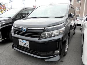 トヨタ ヴォクシー ハイブリッドV 両側PDドア 純正9型フルセグSDナビ バクガイドモニター TVキャンセラー ビルトインETC 前席快適温熱シート おくだけ充電 クルーズコントロール LEDオートライト 1オーナー車