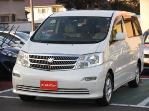 トヨタ アルファードG AX トレゾア アルカンターラバージョン 4WD 電動スライドドア HID バックカメラ ナビ ETC 3列シート