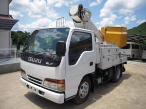 いすゞ エルフトラック アイチSH099 9.9m高所作業車 バケット200kg