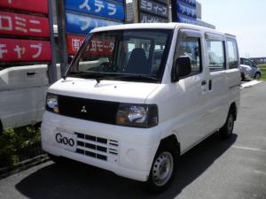 三菱 ミニキャブバン 5速MT 新品タイヤ3本エアコンパワステ ワンオーナー禁煙車