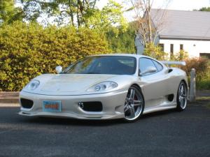 フェラーリ 360 モデナF1 RSデイノF・Sエアロ・リアウイング ワーク20インアルミ グリルワンオフ加工 クライスジーク可変バルブマフラー クラッチ残量57パーセント 社外ナビ・TV バックモニター ビアンコイタリア全塗装