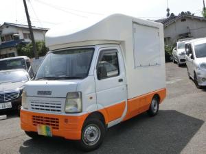 スズキ キャリイトラック キッチンカー 移動販売車 Wシンク 換気扇 外部100V電源コード