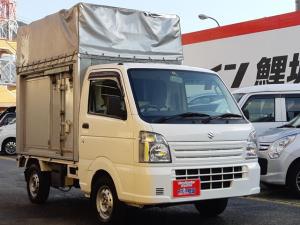 スズキ キャリイトラック  宅配仕様・アルミパネル&幌・エアコン・パワステ  5年2月 2年付き 箱つき