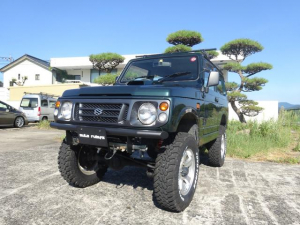 スズキ ジムニー XC JA22最終モデル 5MT 4WD 4インチリフトアップ TOYOオープンカントリーMTタイヤ オートルビーズバンパー&タンクガード 修復歴無し