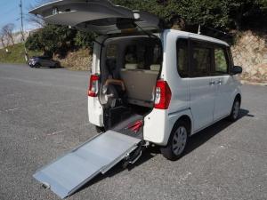 ダイハツ タント L Goo1年間無料保証 スローパー 福祉車両 電動ウインチ リアシート付き 4人乗り