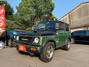 スズキ ジムニー ランドベンチャー 4WD グリーン 全塗装済み 5MT エアコン パワステ 修復歴無 AW