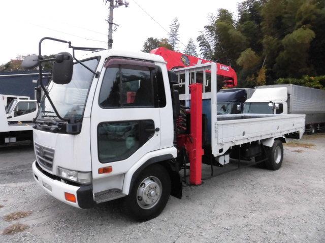 H14日産コンドル3.05t3段ユニック付台車 重機運搬車(ハイジャッキ、セルフローダー)ラジコン付(30-122)