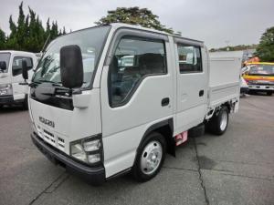 いすゞ エルフトラック Wキャブ 全低床 パワーゲート付 H18年式 6人乗 4ナンバー リアWタイヤ 荷台内寸長2000mm 走行20万キロ