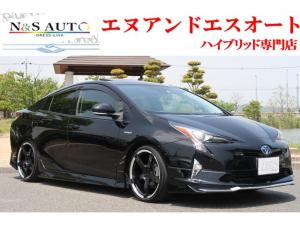 トヨタ プリウス Aプレミアム モデリスタエアロ RS-R車高調 19インチホイール 本革シート サンルーフ アルパイン9型ナビ バックカメラ ETC フルセグ Bluetooth エコグライダー レーダークルーズ 安全装備搭載