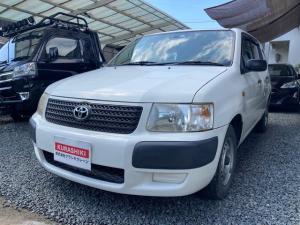 トヨタ サクシードバン U ポータブルナビ ワンセグTV オートマチック エアコン パワステ 運転席助手席エアバッグ ABS ホワイトカラー