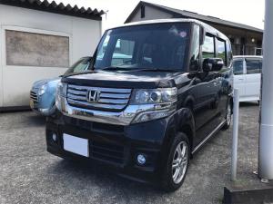 ホンダ N-BOXカスタム ナビ 軽自動車 クリスタルブラックパール CVT AC