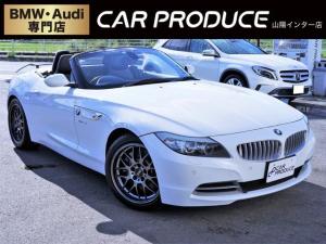 BMW Z4 sDrive35i ・オープンカー・後付けウイング・純正ナビ・シートヒーター・プッシュスタート・クルーズコントロール・パドルシフト・黒革シート・電動パーキングブレーキ・・電子シフト・オートライト・オートエアコン