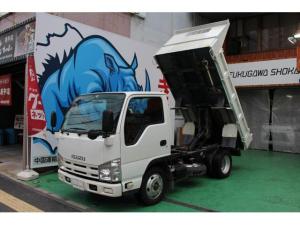 いすゞ エルフトラック 強化ダンプ  ETC 新免許対応 携帯充電器付 リア塗装済