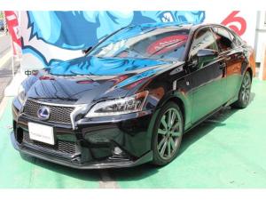 レクサス GS GS450h Fスポーツ カーボンリップ付 本革シート サンルーフ TVキット ETC クルコン ガラスコーティング