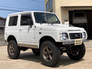 スズキ ジムニー HA リフトアップ 社外バンパー 新品タイヤ 16インチアルミ 社外ステアリング シートカバー 追加メーター 5速MT CD