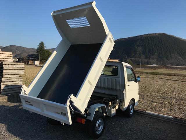 ハイゼットPTOダンプ入庫しました♪4WD エアコン パワステ 5速 力強いPTO式ダンプ 3方開荷台 車検整備付