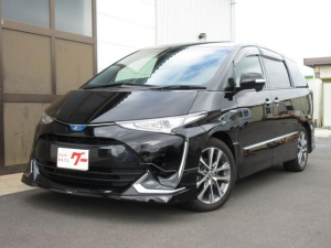 トヨタ エスティマハイブリッド アエラス プレミアム-G 4WD モデリスタエアロ 純正ナビ