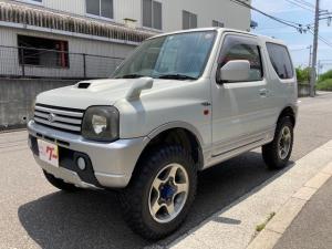 スズキ ジムニー ワイルドウインド パートタイム4WD インタークーラーターボ タイヤ4本新品 マッドタイヤ リフトアップ CD MD キーレス シートヒーター AW16インチ