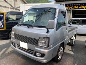 スバル サンバートラック  スーパーチャージャー 4WD 5速MT ハイルーフ TVナビ Bluetooth接続可 ETC キーレス タイミングベルト交換済