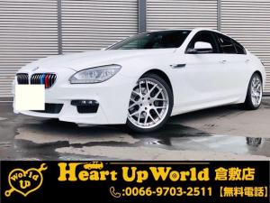BMW 6シリーズ 640iグランクーペ Mスポーツグランクーペ 640i サンルーフ 純正ナビゲーション Bluetooth接続 Bカメラ ETC ABS ドライブレコーダー レーダー 20インチアルミホイール
