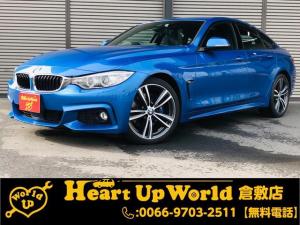 BMW 4シリーズ 420iグランクーペ Mスポーツ 運転席・助手席パワーシート ミラーインETC HDDナビゲーション CD/DVD再生 Bカメラ Bluetooth接続 電動リアゲート パドルシフト SOSコール 純正19インチアルミホイール