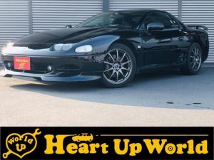 三菱 GTO ツインターボ 社外HIDヘッドランプ フォグランプ サンルーフ 6MT ETC 社外アルミペダル 社外18インチアルミホイール 社外HKSターボタイマー 全塗装黒色済元色黒色 運転席電動シート カセットデッキ