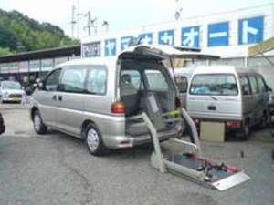三菱 デリカスペースギア 福祉車輌 電動リフト 車いす移動車 ワンオーナー 禁煙車