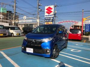三菱 eKカスタム Tセーフティパッケージ ナビ・アラウンドビューモニター搭載車