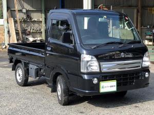 スズキ キャリイトラック KX 5速MT キーレス エアバッグ 三方開 CD ブラック