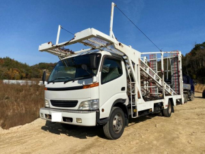 ダイハツ デルタトラック  積載車 3台積み キャリアカー フロア6速 フルセグTV バックカメラ