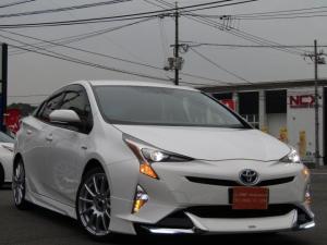 トヨタ プリウス S 新品モデリスタエアロキット 新品18インチ新品タイヤ ナビ Bluetooth 社外LEDフォグ・ウィンカー付き ETC