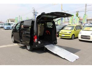 日産 NV200バネットバン 車いすスロープ車 7人乗り仕様 リヤクーラー有り ナビ・テレビ(フルセグ)・バックカメラ リヤクーラー スライドサイドウィンドウ(小窓) プライバシーガラス ETC ドライブレコーダー