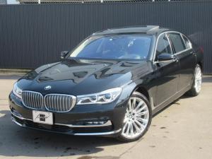 BMW 7シリーズ 750Li デザインピュアエクセレント LEDレーザーヘッドライト パノラマサンルーフ 黒革シート リヤエンターテイメント 純正ナビフルセグTV&360°カメラ