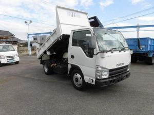 いすゞ エルフトラック 強化フルフラットローダンプ 6速 3トン積み ABS 坂道発進装置 ETC フル装備 4ナンバ-